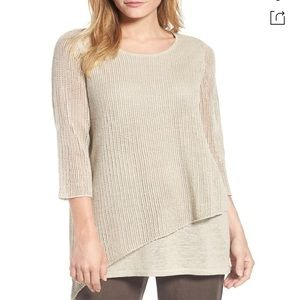 Eileen Fisher Organic Linen Tunic Sweater S